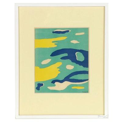 """Fernand Léger Color Lithograph """"L'Eau"""" for """"Verve,"""" 1937"""