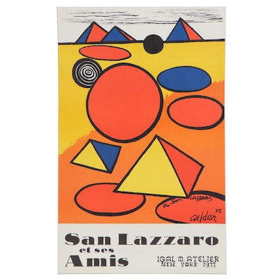 Igal M. Atelier Art Gallery Lithograph Exhibition Poster for Alexander Calder