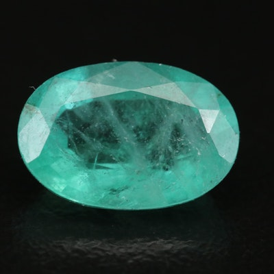 Loose 2.86 CT Oval Faceted Emerald
