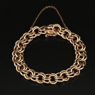 14K Double Curb Link Bracelet