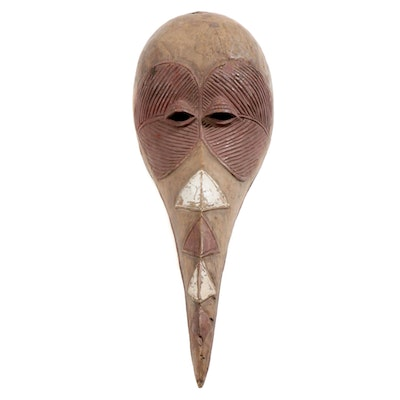 Baga Style Wood Bird Mask, West Africa