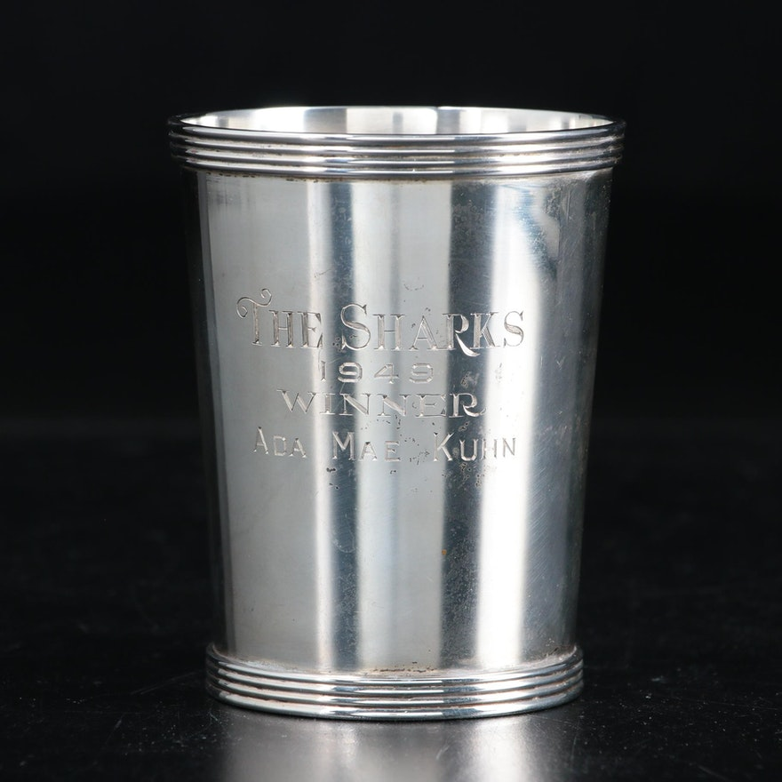 Stieff Sterling Silver Trophy Mint Julep Cup, 1946