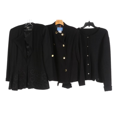 Geiger Boiled Wool Tyrol Jacket and Other Cashmere Jacket, and Beaded Jacket