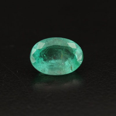 Loose 2.11 CT Oval Faceted Emerald