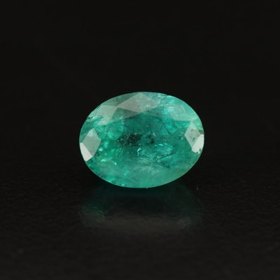Loose 2.92 CT Oval Faceted Emerald