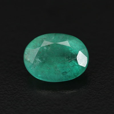 Loose 3.96 CT Oval Faceted Emerald