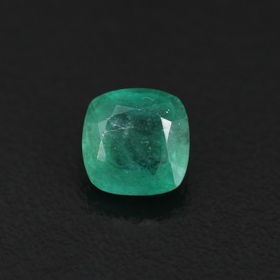 Loose 2.61 CT Square Cushion Emerald