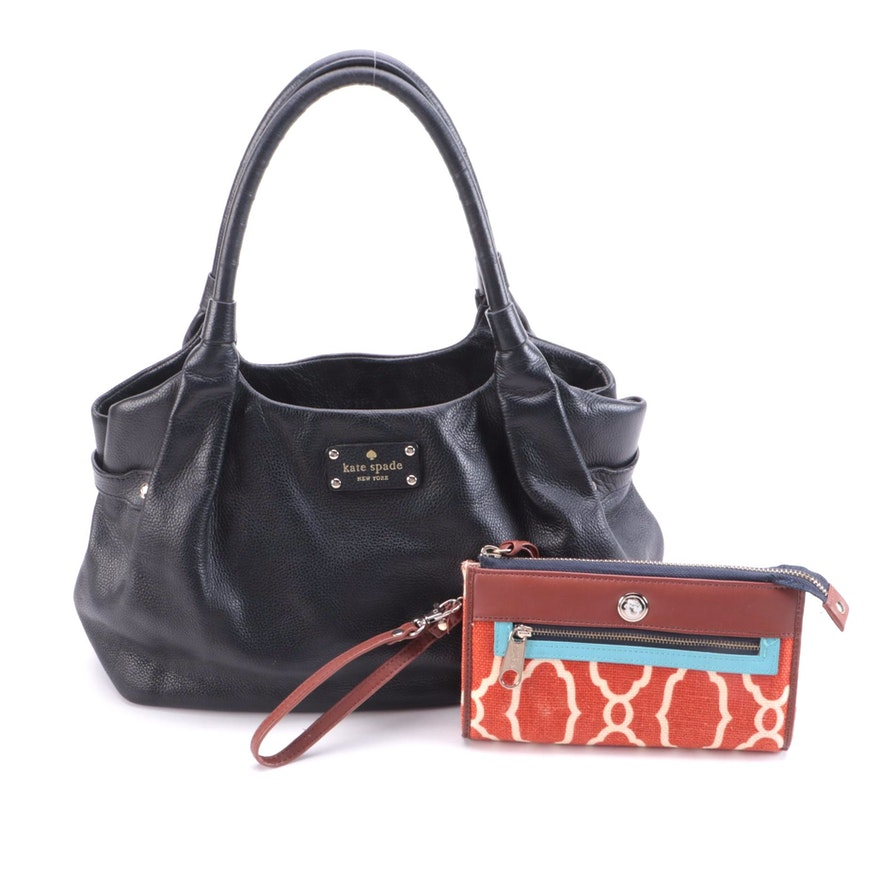 Spartina Linen Clutch/Crossbody and Kate Spade Leather Berkshire Road Stevie Bag