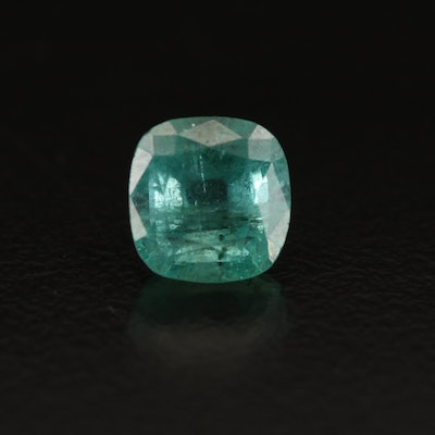 Loose 1.45 CT Square Cushion Faceted Emerald