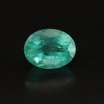 Loose 3.27 CT Oval Faceted Emerald