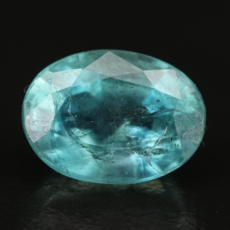 Loose 3.85 CT Oval Faceted Aquamarine