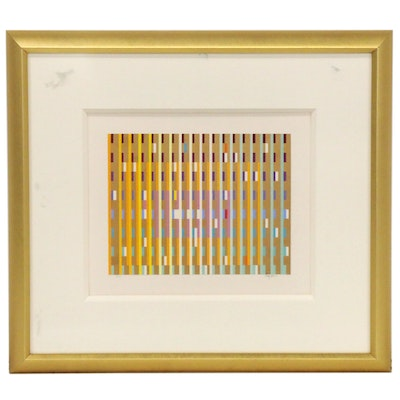 Yaacov Agam Abstract Geometric Serigraph, 1986