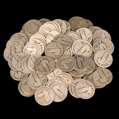 100 Standing Liberty Silver Quarters