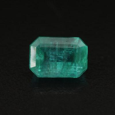 Loose 2.56 CT Cut Cornered Rectangular Faceted Emerald