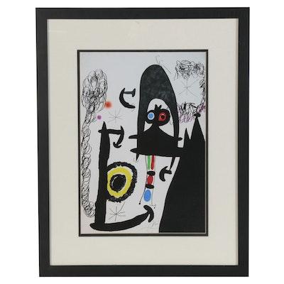 "Giclée after Joan Miró ""Escalade vers la Lune,"" Late 20th Century"