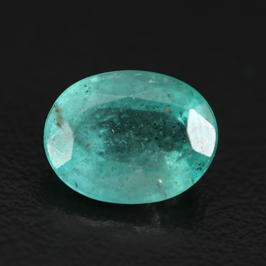 Loose 4.00 CT Oval Faceted Emerald