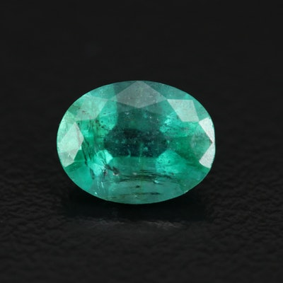 Loose 1.70 CT Oval Faceted Emerald