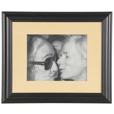 "Offset Lithograph after Christopher Makos ""Andy Warhol Kissing Salvador Dalí"""