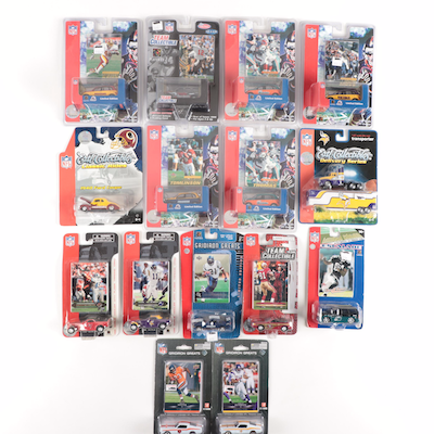 "Ertl NFL ""Classic Rides"" and ""Gridiron Greats"" Cars and Fleer Cards"