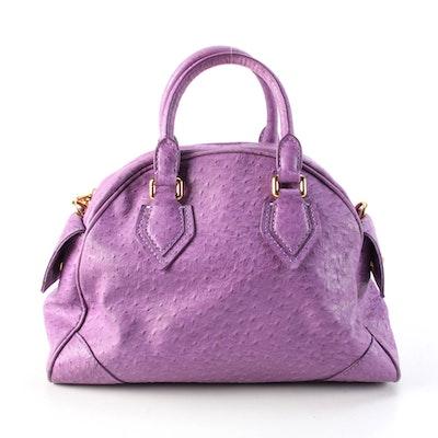Marc By Marc Jacobs Violet Purple Ostrich PVC Ozzie Aiden Bag