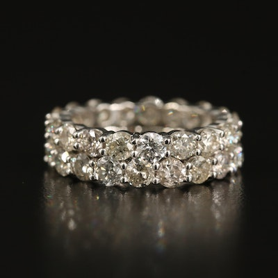 14K 4.18 CTW Double Row Eternity Band