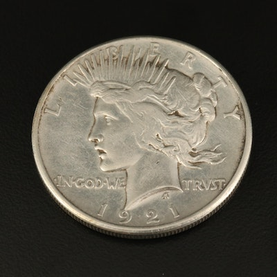 Key Date 1921 High Relief Peace Silver Dollar