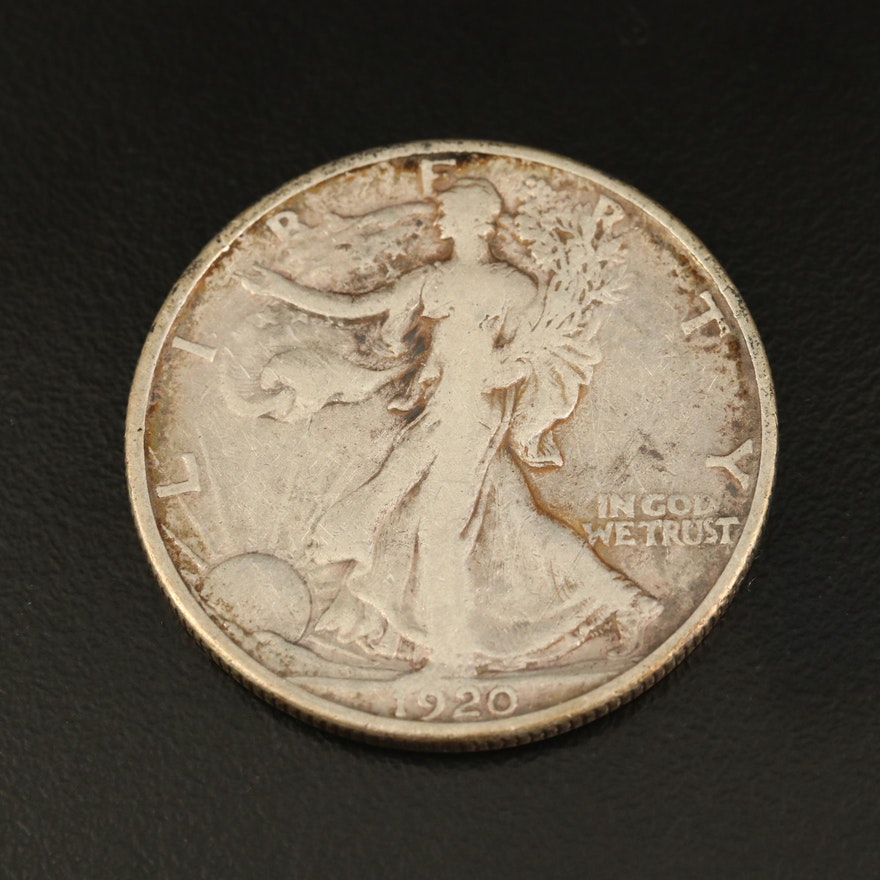 1920-S Walking Liberty Silver Half Dollar