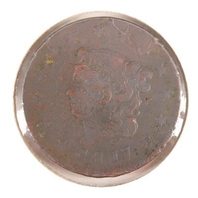 1817 Matron Head Large Cent