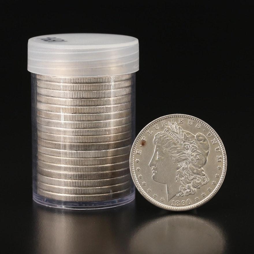 Roll of Twenty Uncirculated 1896 Morgan Silver Dollars