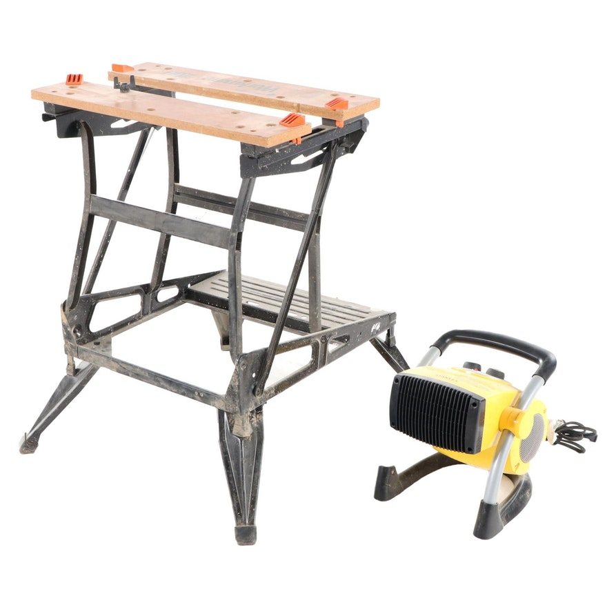 Black & Decker Workmate 200 and Stanley Movable Air Heater