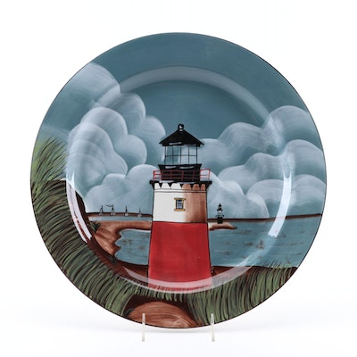"Sakura ""By the Sea"" Earthenware Platter Designed by David Carter Brown"