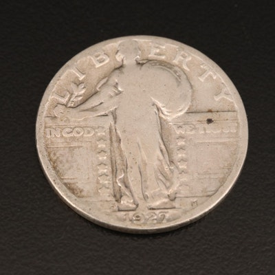 Better Date Low Mintage 1927-S Standing Liberty Silver Quarter