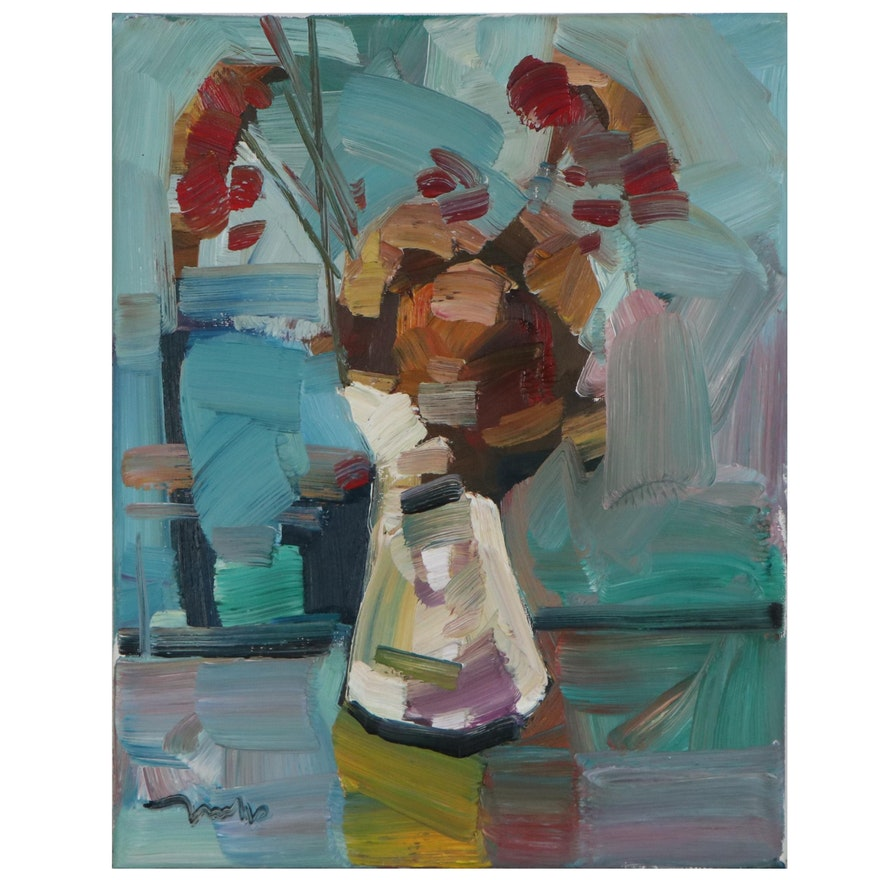 "Jose Trujillo Oil Painting ""Autumnal Arrangement"""
