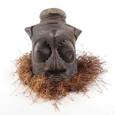 Kuba-Kete Style Handcrafted Helmet Mask, Democratic Republic of the Congo