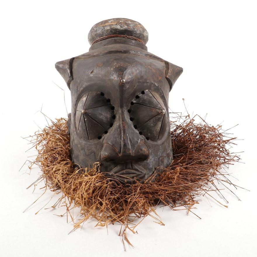 Kuba-Kete Style Handcrafted Helmet Mask, Democratic Republic of the Congo
