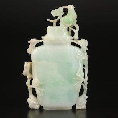 Chinese Carved Jadeite Covered Vase