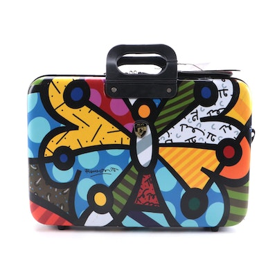 """Heys """"Britto Collection"""" Small Suitcase in Multicolor Butterfly Print"""