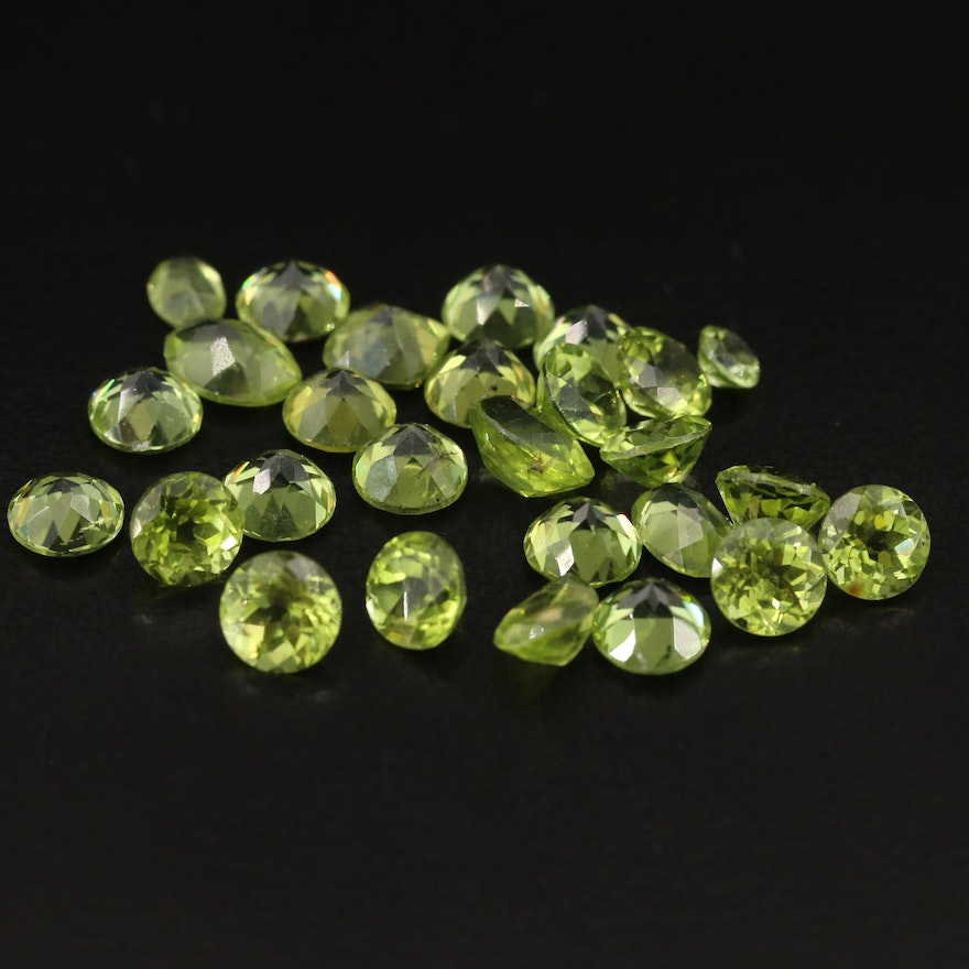 Loose 26.15 CTW Faceted Peridots