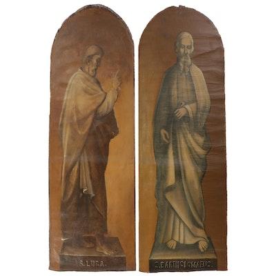 Large-Scale Oil Paintings of Luke the Evangelist and Bartholomew