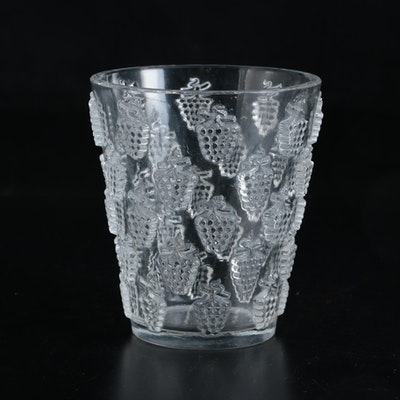 "Lalique ""Malaga"" Crystal Vase, Mid-20th Century"