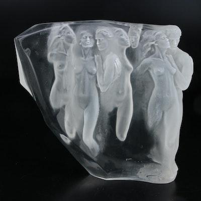 "Frederick Hart Acrylic Sculpture of Nude Figures ""Gerontion"", 1982"