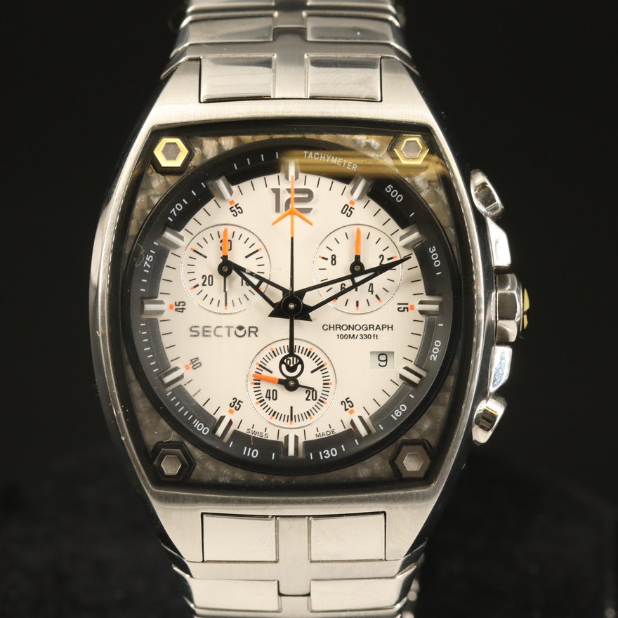 Sector 500 Chronograph Stainless Steel Quartz Wristwatch