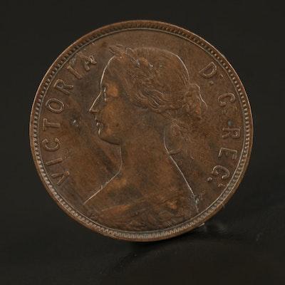1896 Newfoundland 1-Cent Coin