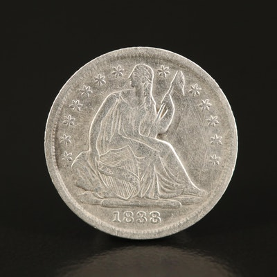 1838 Liberty Seated Silver Half Dime