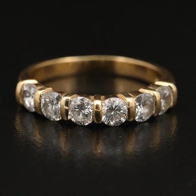 18K 1.48 CTW Six Stone Diamond Band