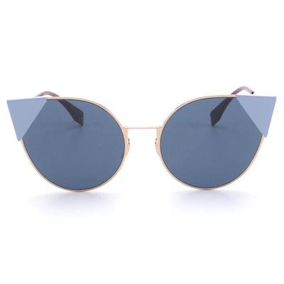 Fendi FF0190 Blue Cat Eye Sunglasses with Case