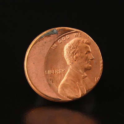 Off-Center Lincoln Cent Error Coin