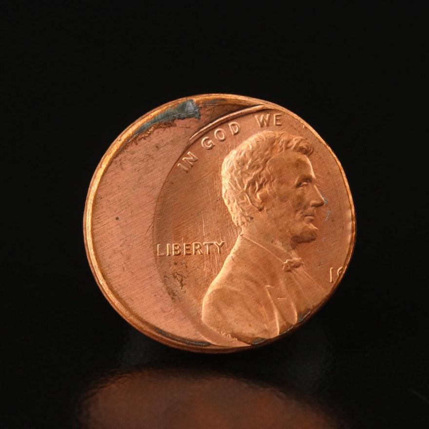 Off-Center Lincoln Cent Error Coin