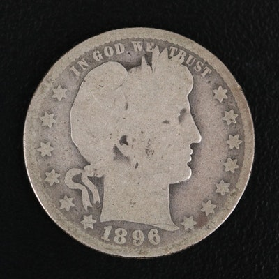 Better Date 1896-O Barber Silver Quarter