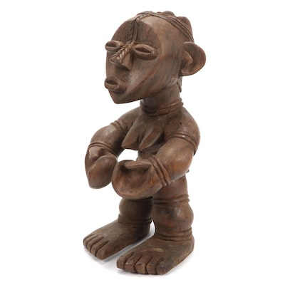 Mambila Inspired Wooden Figure, Africa